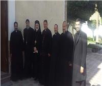 الأنبا باسيليوس يزور مطران أبو قرقاص