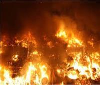 انتداب المعمل الجنائي لمعاينة حريق شب بأرض فضاء في الوايلي