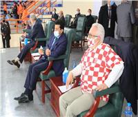 «صبحي» يتابع مباراة كرواتيا وقطر في الصالة المغطاة ببرج العرب