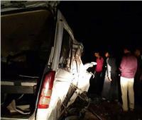 إصابة 7 أشخاص في انقلاب ميكروباص بـ«زراعي البحيرة»