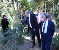وزير الزراعة يتفقد حديقة «الزهرية» بالزمالك ويوجه بتطويرها | صور