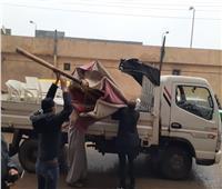 رفع 197 حالة إشغال طريق متحرك وثابت بمركز ومدينة دمنهور