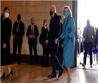 وصول بايدن وهاريس لمبنى الكونجرس