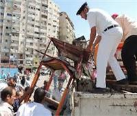 حملات لإزالة المخالفات والإشغالات في 8 مناطق بالجيزة