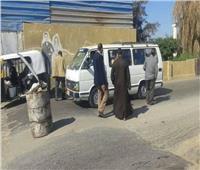 تحرير 20 محضر مخالفة عدم ارتداء الكمامة بديرمواس في المنيا