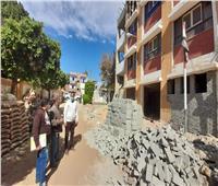 إنارة حاجر المريسوتركيب أعمدة الجهد المتوسط بمدينة الطودبالأقصر
