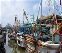 فتح ميناء الصيد ببرج البرلس بكفر الشيخ بعد تحسن الأحوال الجوية