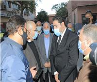 نائب محافظ بني سويف يتابعحادث الصحراوي الذي أسفر عن مصرع 6 سوريين