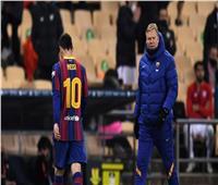 ميسي خارج تشكيل برشلونة أمام كورنيا في كأس إسبانيا