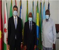 سفير مصر بالجابون يلتقي رئيس مفوضية التجمع الاقتصادي لدول وسط أفريقيا