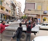 رفع 439 حالة إشغالطريق ومصادرة 48 «شيشة» بالبحيرة