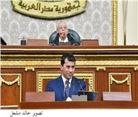 حفيد الرئيس السادات ينتقد أداء وزير الشباب تحت قبة البرلمان