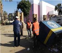 استمرار حملة أعمال النظافة بشوارع أسوان