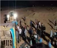 إصابة 6 أشخاص في حادث انقلاب أتوبيس ببني سويف