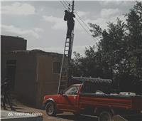 استمرار أعمال الصيانة الدورية لأعمدة للإنارة اليوم بالوحدات المحلية بقرى منوف
