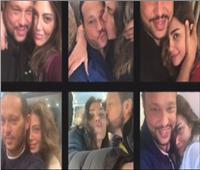 أحضان وقبلات.. ريهام حجاج تحتفل بعيد ميلاد زوجها