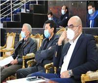 وزير الرياضة يشهد مباراة قطر والبحرين ببطولة العالم لليد بصالة ستاد القاهرة