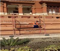 السياحة :البدء في صيانة حوائط قصر البارون