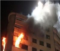 المعمل الجنائي يعاين موقع حريق بمنزل في المنيا