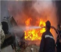 المعمل الجنائي بالمنيا يعاين موقع حريق أعلى سطح منزل لمعرفة أسباب الواقعة