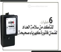 إنفوجراف | 6 خطوات للتأكد من سلامة العداد لضمان فاتورة كهرباء صحيحة