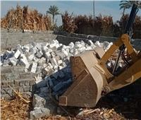 إزالة 65 حالة بناء مخالف على الأراضي الزراعية بالفيوم