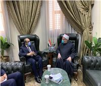 مفتي الجمهورية يستقبل السفير الأفغاني في القاهرة