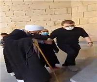وصول الحبيب على الجفري جنازة عبلة الكحلاوي في المقطم| فيديو