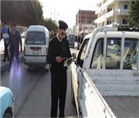 خلال 24 ساعة.. تحرير 2548 مخالفة مرورية بالجيزة