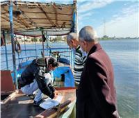 حملات دورية لمراجعة جميع المعديات النهرية بالبحيرة