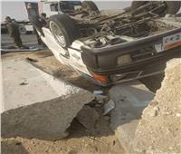مصرع وإصابة 11 في حادث انقلاب سيارة ميكروباص في بني سويف