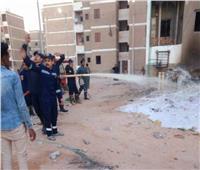 السيطرة على انفجار ماسورة غاز في قنا