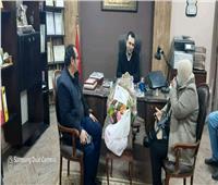 رئيسة مركز ومدينه رشيد تهنىء العاملين بالمنشآت الشرطية بـ25 يناير