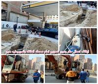 ضبط حفار مخالف في حي الهرم وإعادة انضباط الشارع | صور