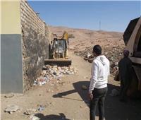رفع التراكمات والقمامة بنجوع «أبوالريش» بأسوان