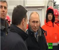 بوتين يفتتح سلسلة مواصلات ضخمة في مقاطعة موسكو
