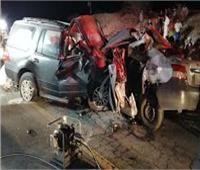 أهالي الشرقية يشيعون جنازة 4 من أسرة واحدةبعد مصرعهم في حادث