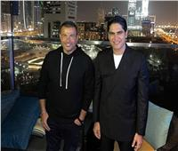 عمرو دياب مع أبو هشيمة في دبي | صور