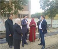 مدير تعليم المنوفية يتفقد مشروع توسعة مدرسة الفتوح الابتدائية بقرية البتانون