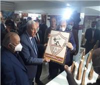 افتتاح معرض منتجات محافظة الوادي الجديد بنادي الزمالك