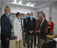 3 صور ترصد أول يوم عمل بمستشفى كفر شكر لاستقبال مرضى كورونا