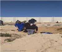حملات لإزالة التعديات على خط مياه الشرب بمطروح