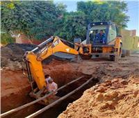 صيانة خط «8 بوصة» لمياه الشرب بمدينة دراو بأسوان