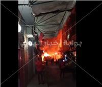 اندلاع حريق هائل بشارع التوفيقية