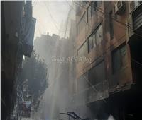 الدفع بـ 6 سيارات إطفاء لحريق هائل نشب بعقار في سوق التوفيقية