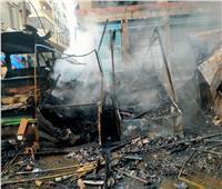 8 صور ترصد حريق «سوق التوفيقية»