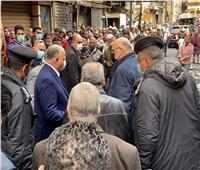 محافظ القاهرة يتفقد أعمال تبريد حريق التوفيقية   صور