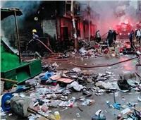 نيابة الأزبكية تباشر التحقيق مع المتهم بإضرام النيران في سوق التوفيقية