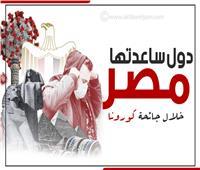 إنفوجراف| قبل لبنان.. دول ساعدتها مصر خلال جائحة كورونا
