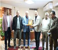 وفد من المرشحين لعضوية الاتحاد الليبي يزور نادي الزمالك